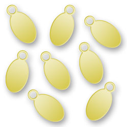 Blank Gold Plated Oval Tags 45mm X 9mm Image