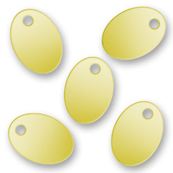 Blank Gold Plated Oval Tags 72mm X 101mm Image