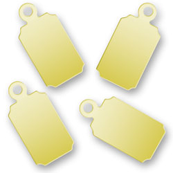 Blank Gold Plated Rectangular Tags 67mm X 137mm Image
