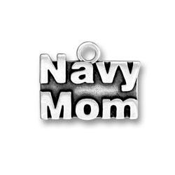 Navy Mom Charm Image