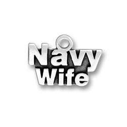 Navy Wife Charm Image
