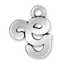 Script Letter G Charm Image
