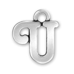 Script Letter U Charm Image
