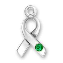 Ribbon With Green Crystal Image