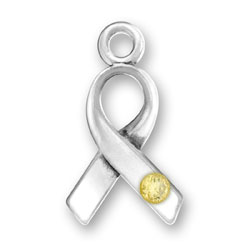 Ribbon With Yellow Crystal Image