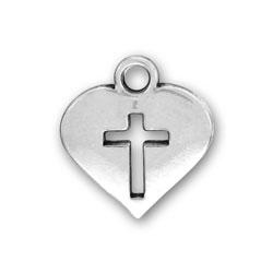 Heart Cross Charm Image