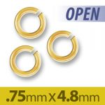 Gold Plated Open Jump Ring 48mm Image