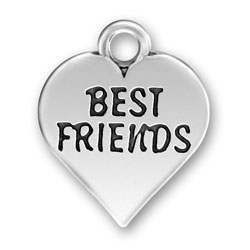 Sterling Silver Best Friends Charm Image