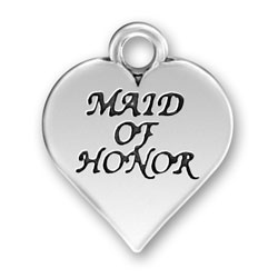 Sterling Silver Maid Of Honor Charm Image