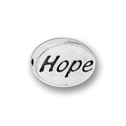 Pewter Hope Message Bead Image