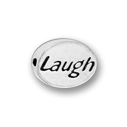 Pewter Laugh Message Bead Image