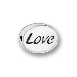 Pewter Love Message Bead Image