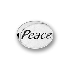 Pewter Peace Message Bead Image