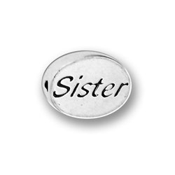 Pewter Sister Message Bead Image