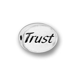 Pewter Trust Message Bead Image