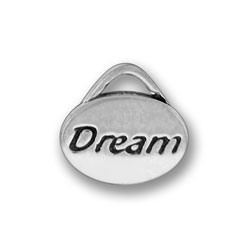 Pewter Dream Oval Charm Image