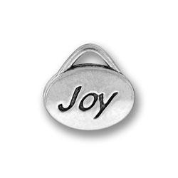 Pewter Joy Oval Charm Image