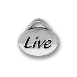 Pewter Live Oval Charm Image