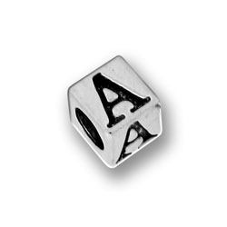 Pewter 55mm Alphabet Letter A Bead Image