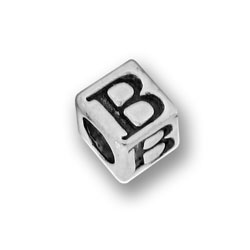 Pewter 55mm Alphabet Letter B Bead Image