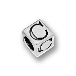 Pewter 55mm Alphabet Letter C Bead Image