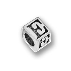 Pewter 55mm Alphabet Letter E Bead Image