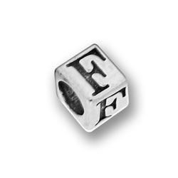 Pewter 55mm Alphabet Letter F Bead Image