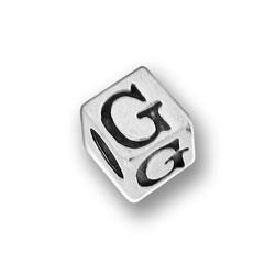 Pewter 55mm Alphabet Letter G Bead Image