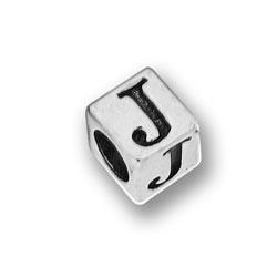 Pewter 55mm Alphabet Letter J Bead Image