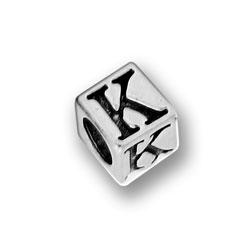 Pewter 55mm Alphabet Letter K Bead Image