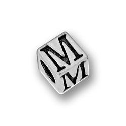 Pewter 55mm Alphabet Letter M Bead Image