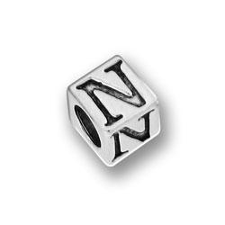 Pewter 55mm Alphabet Letter N Bead Image