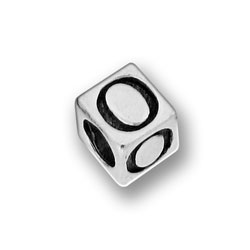Pewter 55mm Alphabet Letter O Bead Image