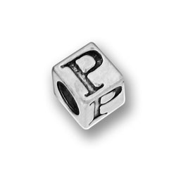 Pewter 55mm Alphabet Letter P Bead Image