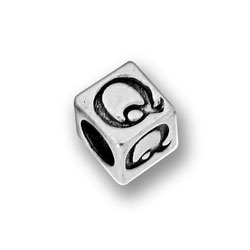 Pewter 55mm Alphabet Letter Q Bead Image
