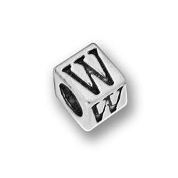 Pewter 55mm Alphabet Letter W Bead Image