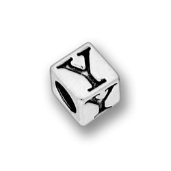 Pewter 55mm Alphabet Letter Y Bead Image