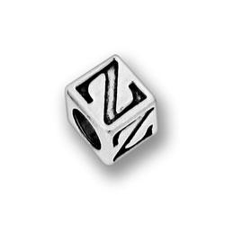 Pewter 55mm Alphabet Letter Z Bead Image