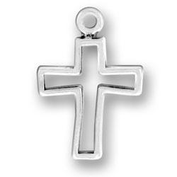 Open Cross Charm Image