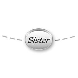 Sister Mini Message Bead Image