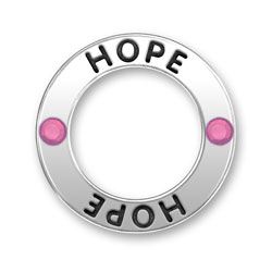 Hope Ring With Pink Crystals Image