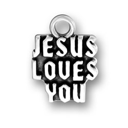 Jesus Loves You Charm Image