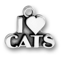 I Love Cats Charm Image