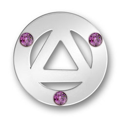 Triangle Amethyst Message Ring Image