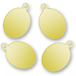 Engraved Gold Oval Tags 88mm X 13mm Image