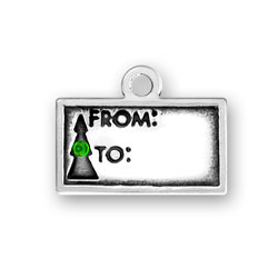 Gift Tag With Green Crystal Image