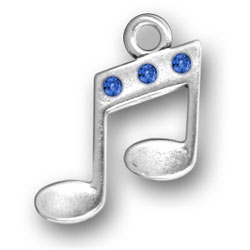 Music Notes With Blue Crystals Image