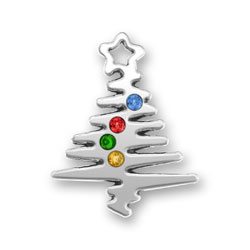 Christmas Tree With Crystals Image
