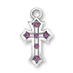Cross With Purple Crystals Image