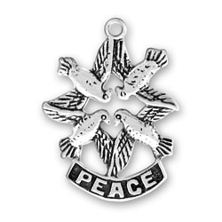 Peace With Doves Charm Image